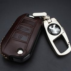 2017 Cow Leather Car Key Cover Case For Peugeot 508 308 407 408 3008 207 2008 107 307 206 406 208 306 607 301 RCZ Car Key Case