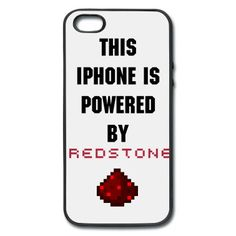 IPhone Case: This IPhone is powered by Redstone iPhone Case | Spreadshirt | ID: 14239394