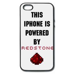 Minecraft powered by redstone phone case Minecraft Funny, Minecraft Skins, Minecraft Stuff, Cool Cases, Cool Iphone Cases, Cool Stuff, Zoom Iphone, Iphone 5c, Redstone