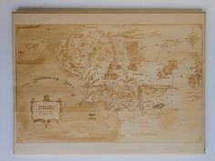 Map of Middle Earth Wall Plaque / Lord of the Rings-Inspired Map