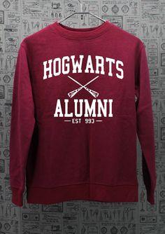 HOGWARTS ALUMNI Harry Potter Sweatshirt maroon by TreeTeaTee, $27.00