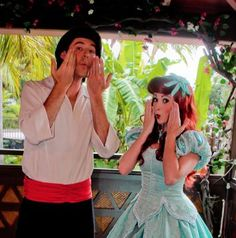 When Ariel and Eric pulled these faces.   25 Times Disney Face Characters Were Completely Adorable