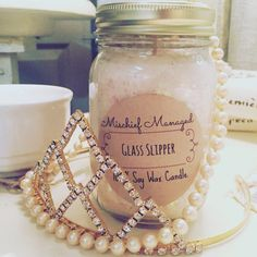 Glass Slipper 100% Soy Candle by MMTrinkets on Etsy