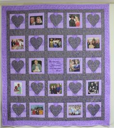 Memory Photo lap Quilt Customized and Personalized  by CannStitch