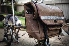 Swift Industries Waxed Cotton Brompton Bag