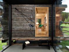 Olivier Rambert - Renovation of a century Mazet, Praz-de-Fort. Photos (C) Daniela Tonatiuh. Lausanne, Bari, Architecture Design, Summer Cabins, Wooden House, Cabins In The Woods, 17th Century, Wood Design, Interior And Exterior