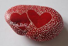 Gartendekoration - Handbemalte Mandala Steine - Dot Painting - Hearts - ein Designerstück von Stone_Art2015 bei DaWanda