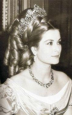 REAL THING: Princess Grace wearing Josephine's coronation tiara.