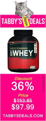 Optimum Nutrition 100% Whey Gold Standard $97.99