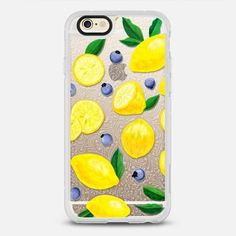 Lemons & Blueberries -  protective iPhone 6 phone case in Clear and Clear by Noonday Design #fruit | @casetify