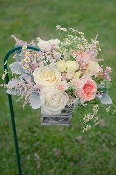 Aisle Marker Decor Ideas, Wedding Ceremony Photos by Stefanie Kapra Photography