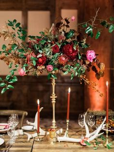 wedding centerpiece idea; photo: Rachel Havel