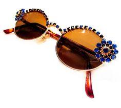 Vintage Rhinestone Sunglasses
