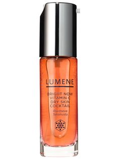 15 Under-$25 Beauty Wonders:  Pretty new finds    Moisturize and brighten skin all at once with a blend of natural oils and spot-fading vitamin C. Lumene Bright Now Vitamin C Dry Skin Cocktail, $22.