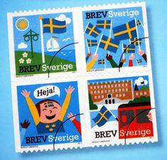 A fun #Swedish stamp! // Swedish Postage Stamps