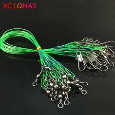 30 Pcs / Pack Fishing Tackle Lure Trace Wire Length High Carbon Stainless Steel Anti-bite Sub Fishing Line