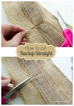Craftaholics Anonymous® | Monogram Fall Wreath  How to cut burlap straight