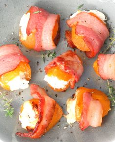 Apricots Stuffed with Goat Cheese and Wrapped in Bacon - bhg.com