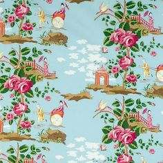 scalamandre china rose quirky fabric for just about anything.  but in moderation.