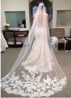 Cathedral Veil Mantilla Veil Bridal Veil Wedding Veil by ctroum