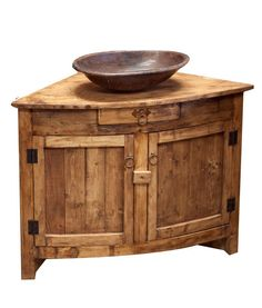 Rustic Corner Vanity by FoxDenDecor on Etsy, $819.00