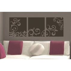 Sticky Vinyl Decor Panels | different styles | easy DIY option for feature wall