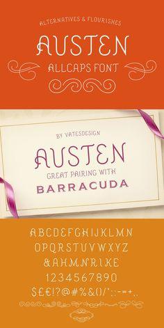 Austen Display Font. Fonts. $12.00