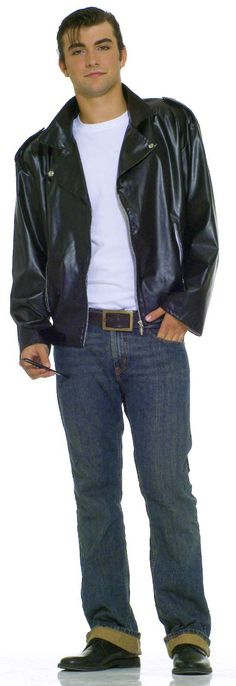 50's GREASER Grease Faux Leather Biker Fonzie Jacket Costume Standard / XL Men's in Clothing, Shoes & Accessories   m.eBay.com