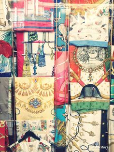 Vintage Shopping in Paris | The Dolls Factory | Vintage Hermes Scarves | | { Couture /// In the Details