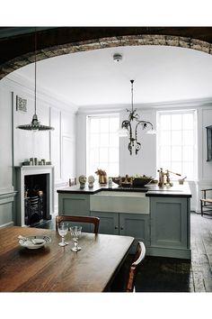 Home Interior 2019 .Home Interior 2019 Classic Kitchen, New Kitchen, Kitchen Dining, Kitchen Decor, Dining Area, Dining Room, Kitchen Island, Fireplace Kitchen, Kitchen Sinks