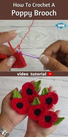 Crochet Brooch, Crochet Bows, Crochet Crafts, Crochet Projects, Crocheted Flowers, Crochet Butterfly Free Pattern, Crochet Flower Tutorial, Crochet Applique Patterns Free, Crochet Appliques