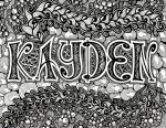 Zentangle Name Plate - Kayden by TheLonelyMaiden