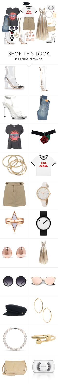 """""""How to Style #3: Clear shoes"""" by bubble-tea-dan ❤ liked on Polyvore featuring adidas Originals, Pleaser, Citizens of Humanity, Vero Moda, ABS by Allen Schwartz, Marc by Marc Jacobs, Rosendahl, Monica Vinader, La Mania and Alice + Olivia"""