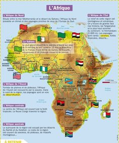 French map of Africa Geography Ap French, Core French, French History, French Teacher, Teaching French, How To Speak French, Learn French, Pays Francophone, Medical Mnemonics
