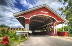 Covered Bridge in New Hampshire jigsaw puzzle in Bridges puzzles on TheJigsawPuzzles.com