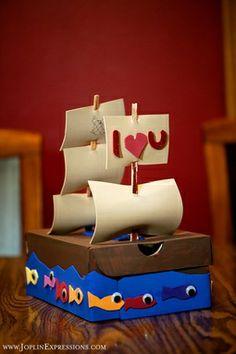 cute boys valentines box