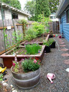 side yard idea - planters - garden