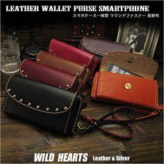 財布とスマホケースの一体型、ちょっとした外出に便利です本革 スマホケース一体型 長財布 ラウンドファスナー ユニセックス レザークラフト Leather Zip Around Wallet Purse Smartphone/iPhone Case WILD HEARTS Leather&Silver (ID lw172t35) Iphone Flip Case, Iphone Cases, Wild Hearts, Long Wallet, Purse Wallet, Purses And Handbags, Zip Around Wallet, Zipper, Leather