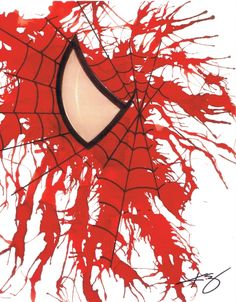 Spider-Man Rorschach Print by Kevin Eslinger
