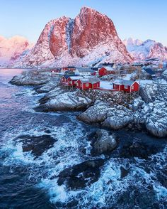 """""""arctic wonderworld"""" Thought another shot from Hamnøy at Lofoten islands in Norway could suit very well to wish all you guys a great weekend!  Tag a friend and we will have the next Q&A Question and Answer Session when we hit the 50.000 followers here  Right now i will start counting down the weeks until i return to these islands that have really shaped both my personality and photographic carreer since i  started photography. Maybe you will suddenly see this image in front of you when you…"""