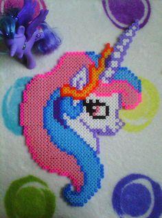Perler MLP Princess Celestia by GooniesFactory