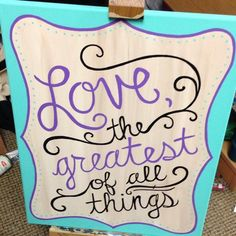 Love this canvas..and especially love the words on it!