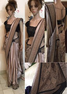 Pure Banaras Saree  singlepeice  banaras  black  14 November 2016