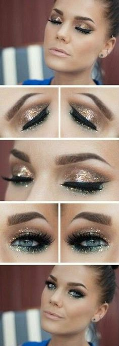 New Years Eve Glitter Makeup