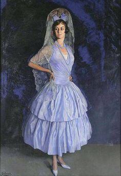 Portrait of Micaela de Aramburu y Picardo by Ignacio Zuloaga (Spanish 1870-1945)