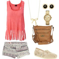 tribal shorts and fringe shirt - cool