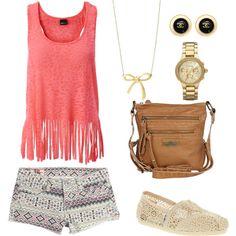 tribal shorts and fringe shirt - cool