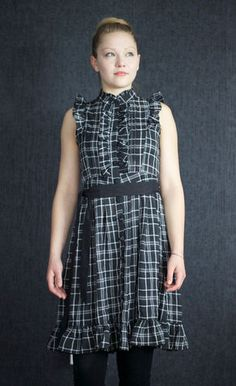 Yumi Tartan Dress, Romantic Dress, Vintage Dress, Casual or Evening Dress