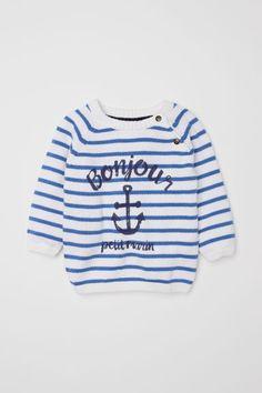 Jumper - White/Blue striped - Kids | H&M