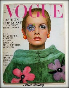 Características principales del maquillaje de la década de 1960 con Twiggy como icono (1960s makeup main characteristics) - 1960s makeup characteristics - www.elcajondesastredeisa.blogspot.com.es/